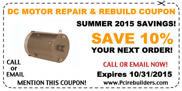 dc motor - summer 2015 coupon