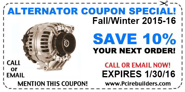 alternator repair coupon fall 2015