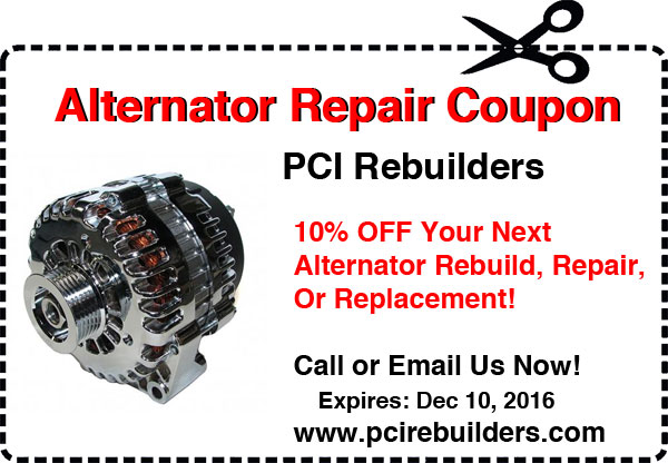 alternator coupon - Fall season 2016