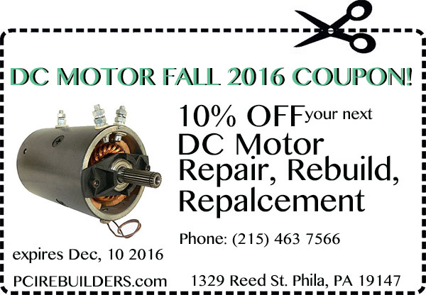dc motor coupon fall season 2016